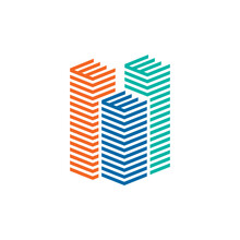 Sky Scraper Building Logo Design Template
