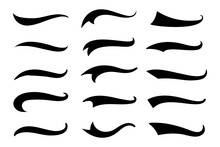 Text Tail. The Tail Of The Sports Text. To Decorate The End Of The Font.