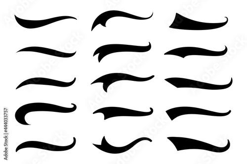 text tail Fotobehang