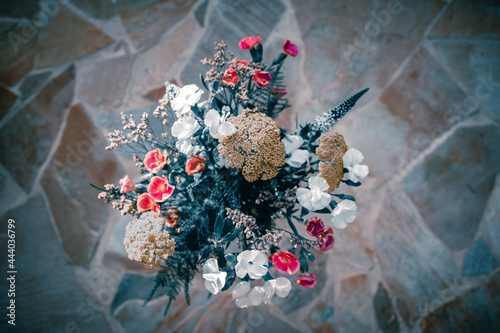 Cuadros en Lienzo Bouquet printanier vu de dessus