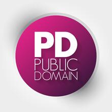PD - Public Domain Acronym, Concept Background