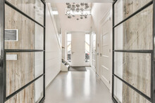 From Inside A Luxury Home Empty Corridor Design