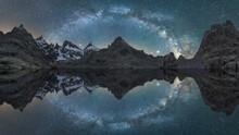 Mountain Lake Reflecting Milky Way