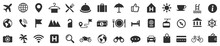 Travel Icons Set. Tourism Simple Icon Collection. Vector