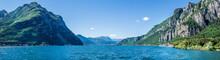 Lago Di Como, Vista Panoramica Da Lecco Verso Le Alpi