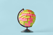 Earth Globe With Colored Paper Stickers