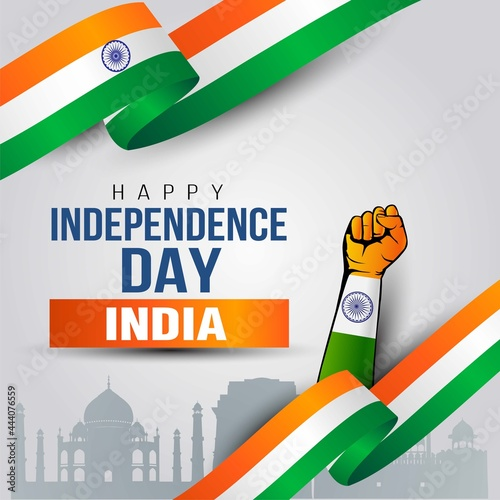 Fotografie, Tablou happy independence day India greetings