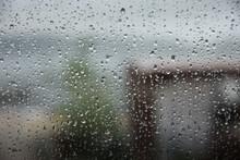 Drops On The Windowpane When It Rains