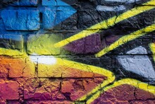 The Abstract Mural Graffiti Wallpaper For Wall Decoration