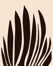 Black Botanical Pattern