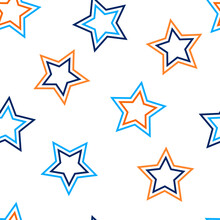 Stars Seamless Pattern. Design For Fabric, Wrapping Paper, Background, Wallpaper. Vector.