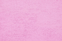 Pink Plaster Wall Of A Building. Rough Surface Texture.