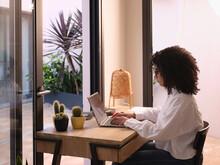 Working Woman In Cozy Office.