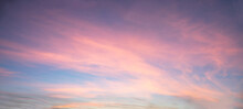 Beautiful Colored Sky, Clouds At Sunset