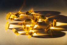 Cod Oil Capsule Supplement Of Omega 3