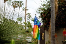Pride Flag With Stars And Stripes