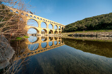 Arch Aqueduct Over The Gardon River