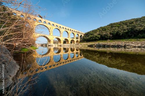 Tela Arch Aqueduct Over The Gardon River