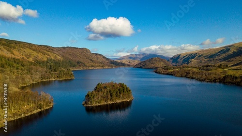 Fotografie, Obraz Scenic View Of The Lake District With Blue Skies And Blue Waters