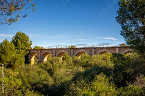 Canvastavla Arch Bridge Against Clear Blue Sky