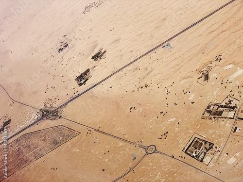 Fotografie, Tablou High Angle View Of Arid Landscape