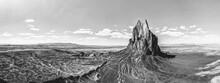 Panoramic View Of  Shiprock Nm