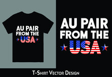 Au Pair From The USA T-shirt Design
