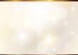 秋色の背景素材 ボケとゴールドのライン(薄茶色)