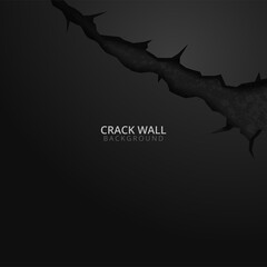 Cracked Hole Wall Banner