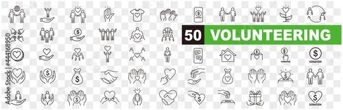 Volunteering icons set Fotobehang