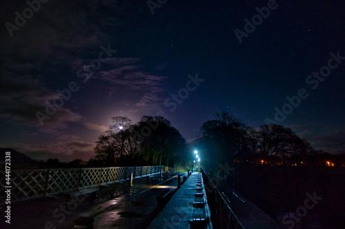 Fototapeta Moonlit Skies Over Northern England