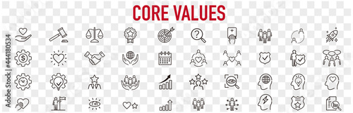 Fototapeta Set of core values icons vector