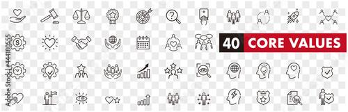 Fotografie, Obraz Set of core values icons vector