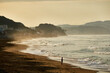 Leinwandbild Motiv Scenic View Of Beach Against Sky During Sunrise
