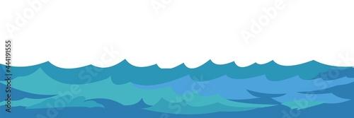 Fotografiet Waves of water in a river, sea or ocean