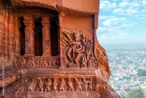 World Heritage Site, Badami Cave Temples, Karnataka, India