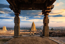 Stunning View At Sree Virupaksha Temple, Hampi, Karnataka, India