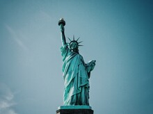 Low Angle View Of The Statue Of Liberty
