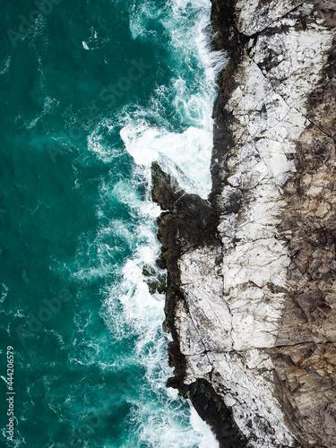 Birds Eye Scenic View Of Sea Fototapet
