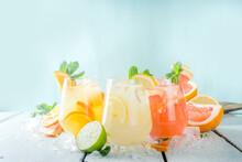 Set Of Various Lemonades