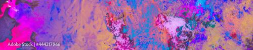 фотография Colourful Smear Old. Hippie Tye Dye. Blue Boho