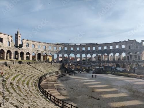 Canvastavla Coloseum Pula. Ein altes römisches Gebäude