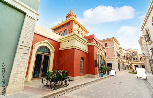 The exotic architecture on Haihua Island, Hainan, China.