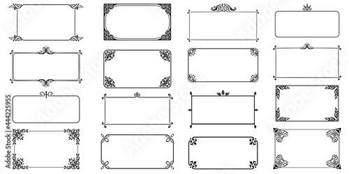 Fotografie, Obraz Decorative frames retro ornamental, vintage square ornaments and ornate border v