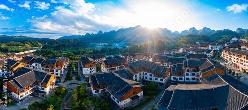 Leinwand Poster Mengliu Town, xiaoqikong scenic spot, Libo County, Guizhou Province, China