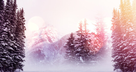 Image of landscape with winter scenery