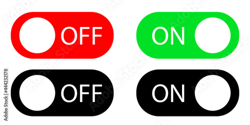 Murais de parede A set of buttons to turn on and off
