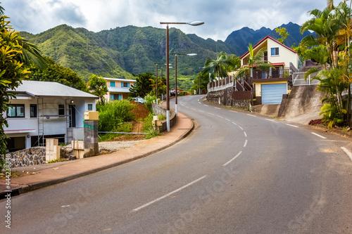 Valokuvatapetti village de l'Entre-Deux, île de la Réunion