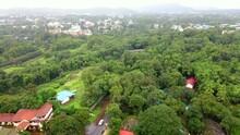Lonavla City Hill Station Dron Shot Brds Eye View In Rainy Season  Green View Top View