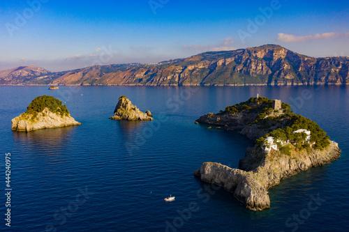 Arcipelago dell'isola li Galli a Positano Fotobehang
